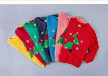 EMS/DHL Free Shipping 2016New!Autumn Winter Cotton Cashmere Children Christmas Sweater