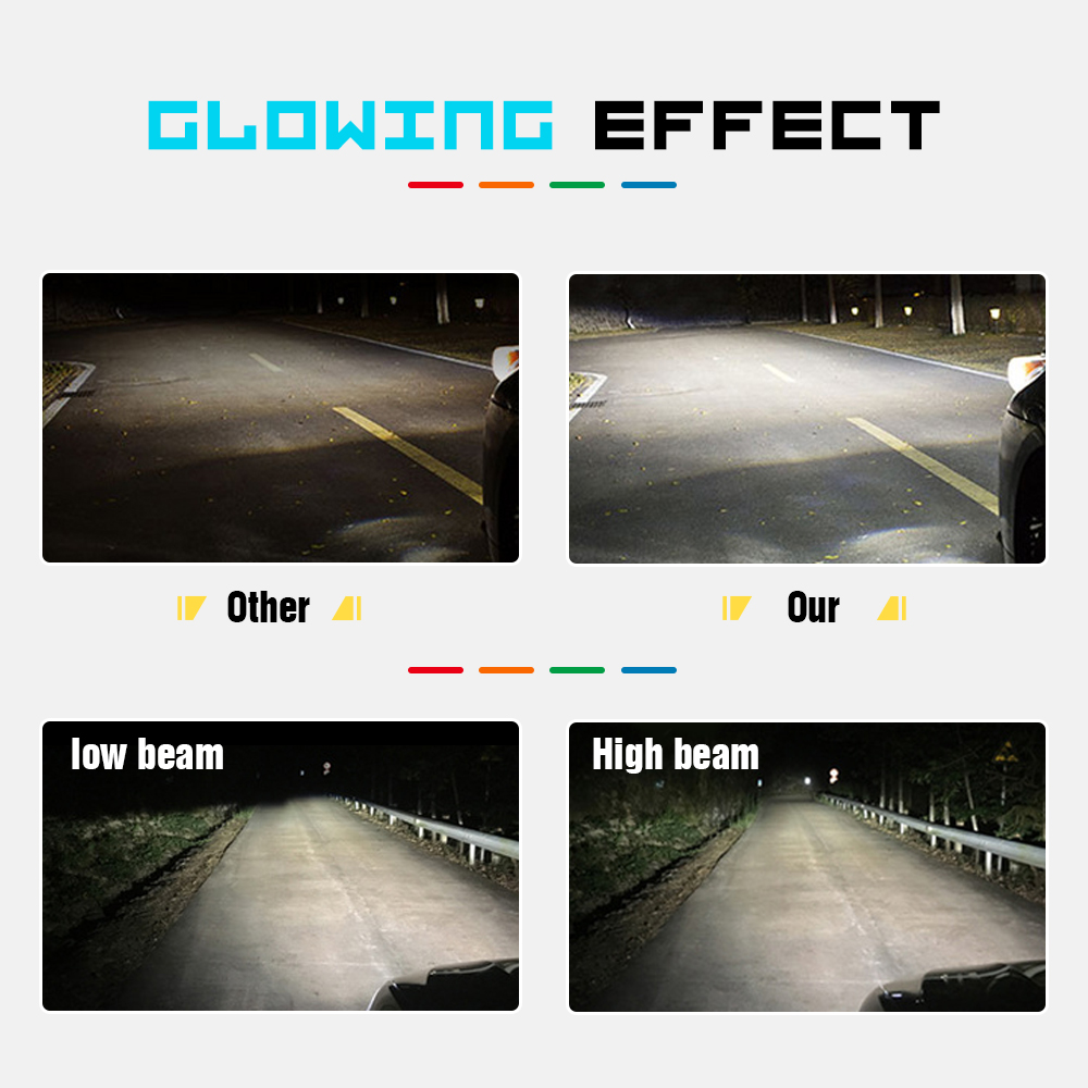 Modifygt 3 color changing 5 modes H4 led H7 led H8 H9 H11 9005 9006 car Headlight 3000K 4300K 6000K 8000Lm 50W 12V 24V in Car Headlight Bulbs LED from Automobiles Motorcycles