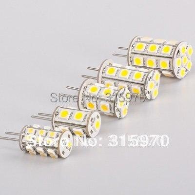 Купить с кэшбэком Led G4 Lamp 13Led 5050SMD  12V 24V Led Under Cabinet Bulb RV Lamp Dimmable Corn Tower 12VAC&12VDC&24VDC 20pcs/lot