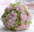 Европа Стиль Зеленый Фиолетовый Цвета Слоновой Кости Люкс Для Невесты Цветок свадебный букет искусственный цветок розы букет Кристалл свадебные букеты