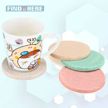 Cup Coaster Mat Water Absorbent Fast Drying Diatomite Drink Coasters Round Shape water Bottles Mats for Tea Coffee Beverage *NF