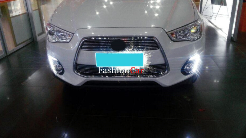 2pcs/set Car DRL daytime running lights For Mitsubishi outlander sport / ASX / RVR 2013 2014 2015 for mitsubishi mitsubishi asx outlander sport rvr 2011 2012 2013 chrome car door handle cover exterior accessories