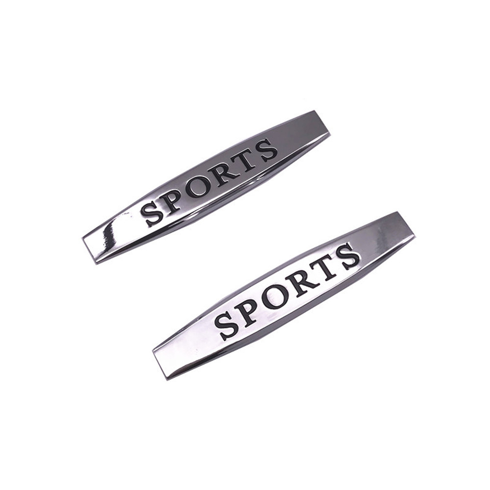 2pcs/lot Auto Emblem Badge Decal Sticker Cars Side Fender Metal stikcers For toyota Leaf board side sticker car styling