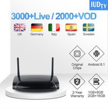 1 Year IUDTV IPTV Code Leadcool R2 UK Swedish IPTV Subscription Smart TV Box India IPTV Turkish Arabic Greece Spain Italy IP TV недорого