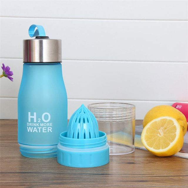 Creative 650ML H2O Lemon Juice Fruit Water Bottle Infuser Drinkware For Outdoor Portable Shaker Sports Bottle BPA Free 4