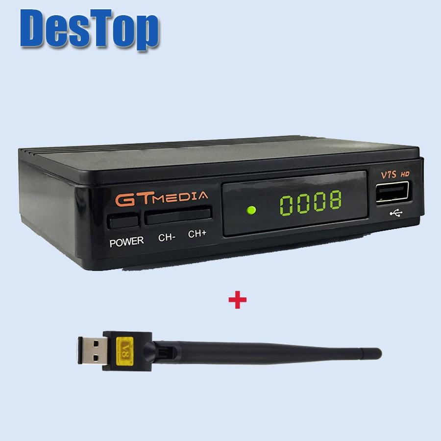 5pcs Freesat Mini Digital Satellite TV box receiver V7S HD DVBS2 Suppport Youtube Powervu CCcam Newcamd