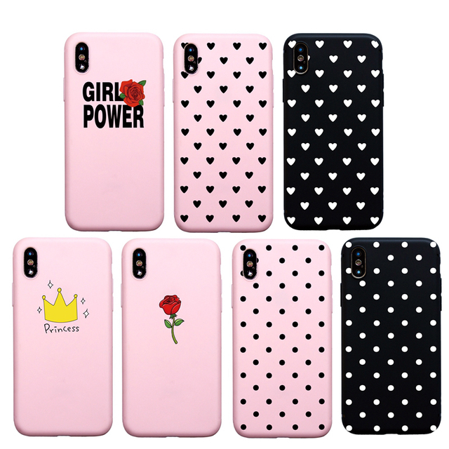 pretty nice 0e501 fa379 US $0.79 |Candy Pink Color For girl Woman Soft Case for iPhone X XS Max XR  6S 6 Plus Cute Case for iPhone 7 8 Plus 5S SE Phone Cover-in Fitted Cases  ...