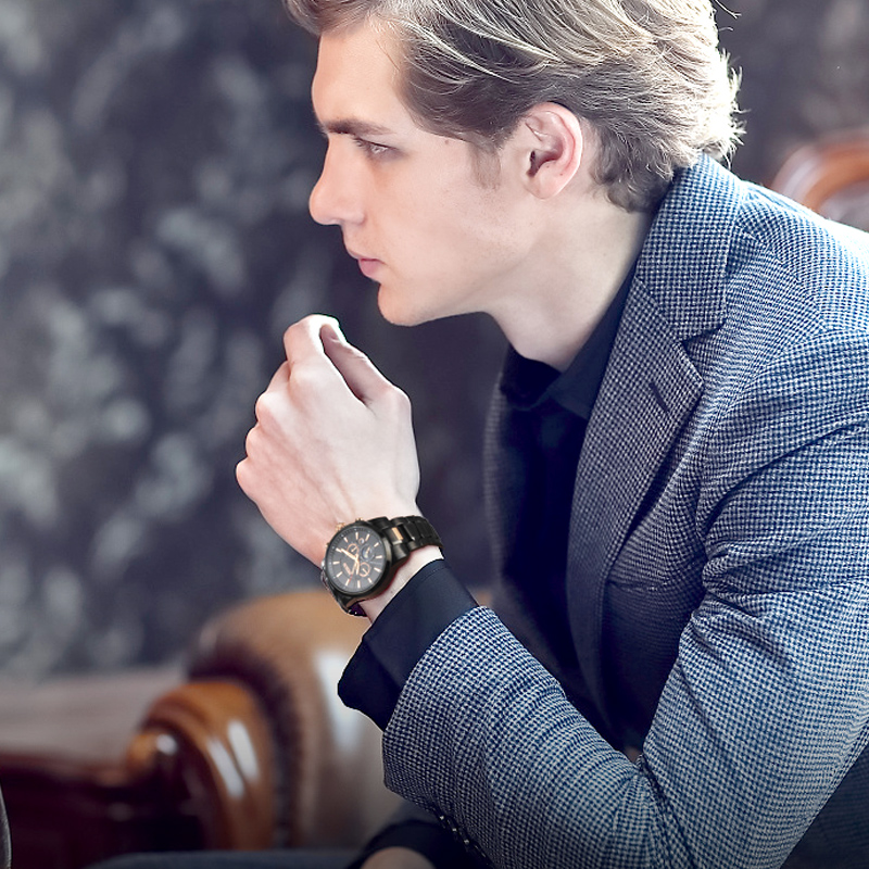NESUN Creative Business Men Automatic Mechanical Wristwatches Waterproof Luxury Brand Sport Watches Clock Male Relogio Masculino guanqin watches men relogio masculino mechanical watches men full stell waterproof business wristwatches men s watches clock