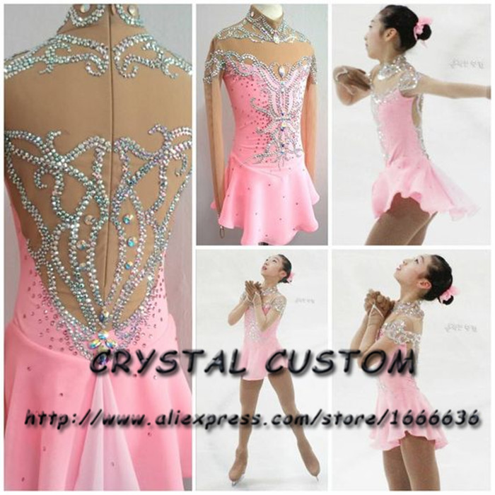 Crystal Custom Figure Skating Dress Girls New Brand Ice Skating Clothes For Competition DR4710