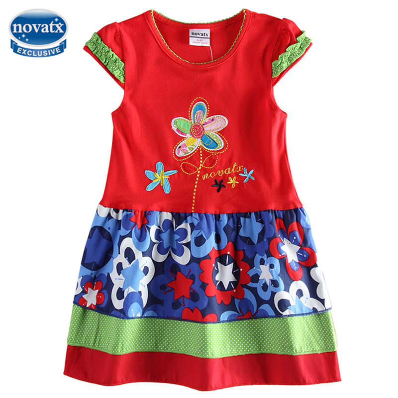 Nova Kids Summer Clothes Baby Girls Frocks Striped Kids Dress Fashion Design Hot Selling Childen Dress For Kids Girls