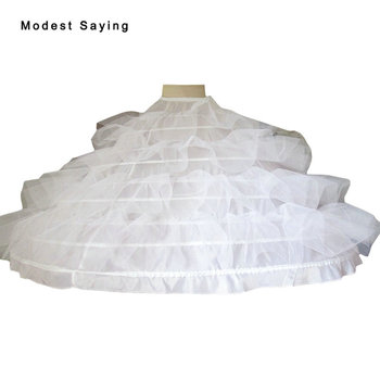 High Quality 9 Hoops Petticoat Underskirt For Super Big Ball Gown Wedding Dress 2019 Bridal Gowns Wedding Accessories Crinoline 2018 new hot sell 6 hoops big white petticoat super fluffy crinoline slip underskirt for wedding dress bridal gown in stock