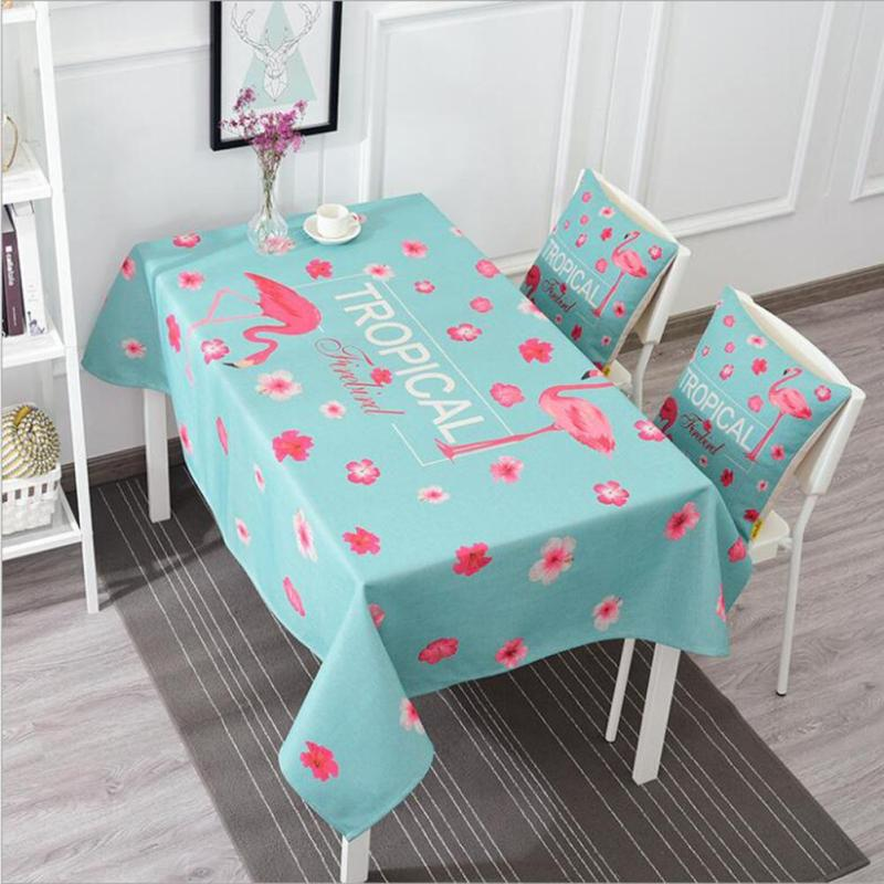 Beauty Cartoon Flamingo Printed Table Cloth Rectangular Cotton Rhaliexpress: Home Decor Tablecloth At Home Improvement Advice