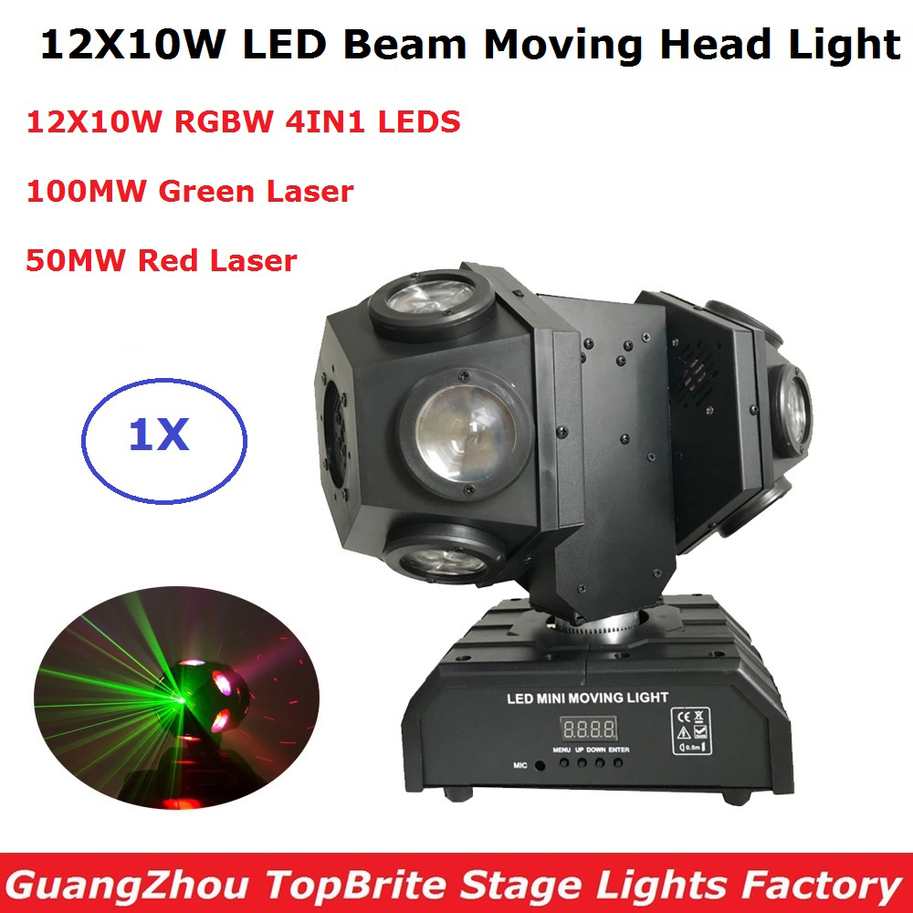 12X10W RGBW 4IN1 LED Beam Light Football Light DMX512 Football Moving Head Light Professional Disco Wedding