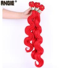 16 18 20 inch Body Wave bundels Synthetisch Haar Weave 3 Bundels Enkele Kleur Dubbele Inslag Haar Extention