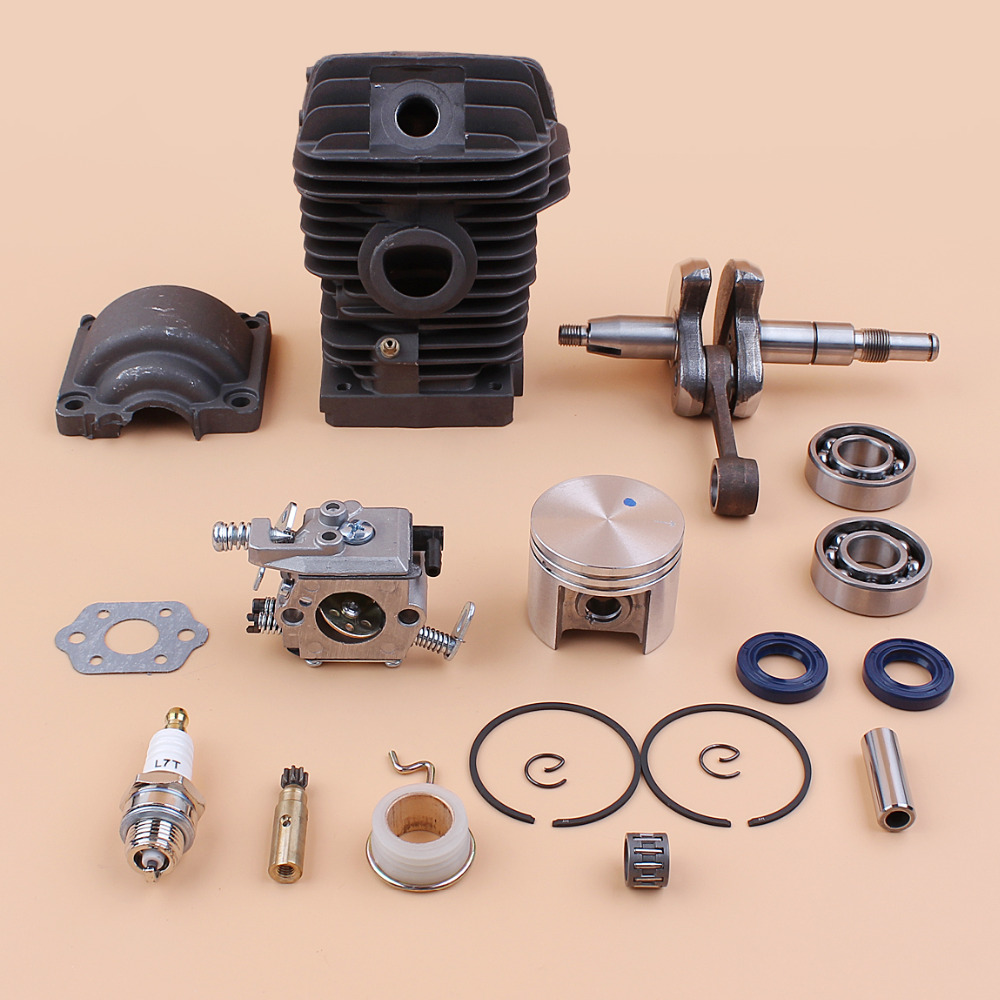 Cylinder Piston Bearing Oil Seal Carburetor Overhaul Kit For STIHL MS250 MS230 023 025 MS 250 230 Chainsaw Oil Pump Worm Gear купить недорого в Москве