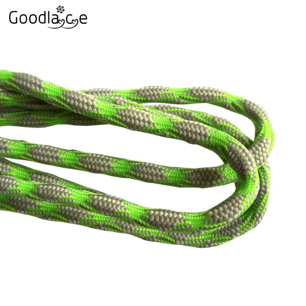 Нескользящие круглые шнурки для альпинизма разные цвета 120 см/47 дюймов