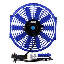 цена на Universal 12 Inch Car High Power Pull Racing Electric Radiator Engine Cooling Fan 12V 80W High Quality
