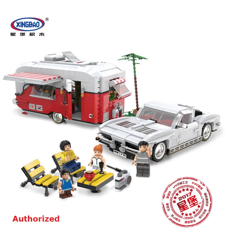XingBao Blocks 08003 The MOC Camper Set 2436Pcs Children Educational Building Bricks Toys for kids car Model brinquedos Boy Gift qigong legendary animal editon 2 chimaed super heroes building blocks bricks educational toys for children gift kids