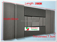 New coming Special for studio Wall Tiles Acoustical Studio Foam Absorbers 12pcs/set 210*90*7.5cm acoustic foam studio foam