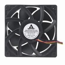 цена на 2pcs Gdstime 12V 4PIN 12038 12CM 120MM DC Brushless Computer Case Cooling Cooler Fan with FG PWM