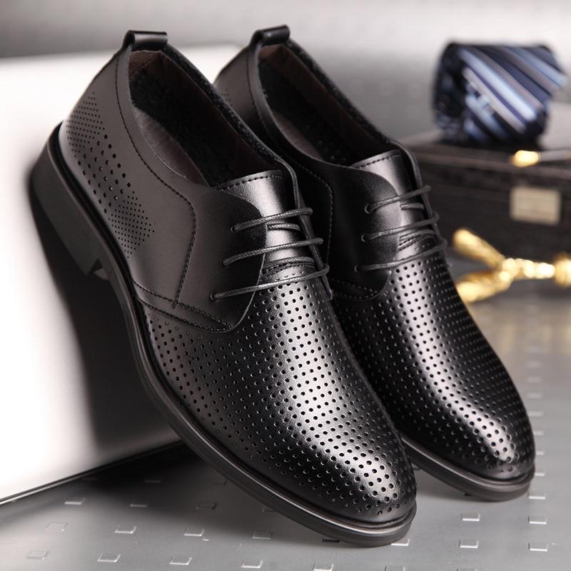 Été nouveau transfrontalier grande taille creux en cuir chaussures en cuir trou chaussures pour hommes décontracté à fond plat shoes4546