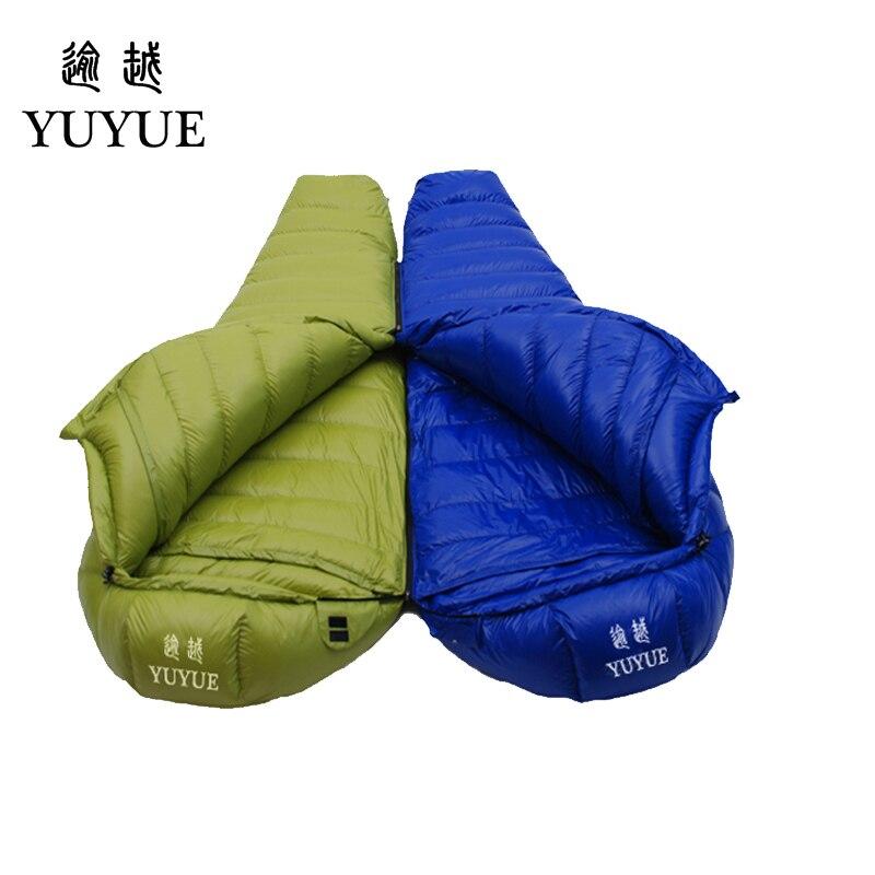 Adult waterproof Lengthened Sleeping Bag Ultralight Tearproof Mummy Camping Sleeping Bag Down For Hiking Equipment Sleep Bags 1