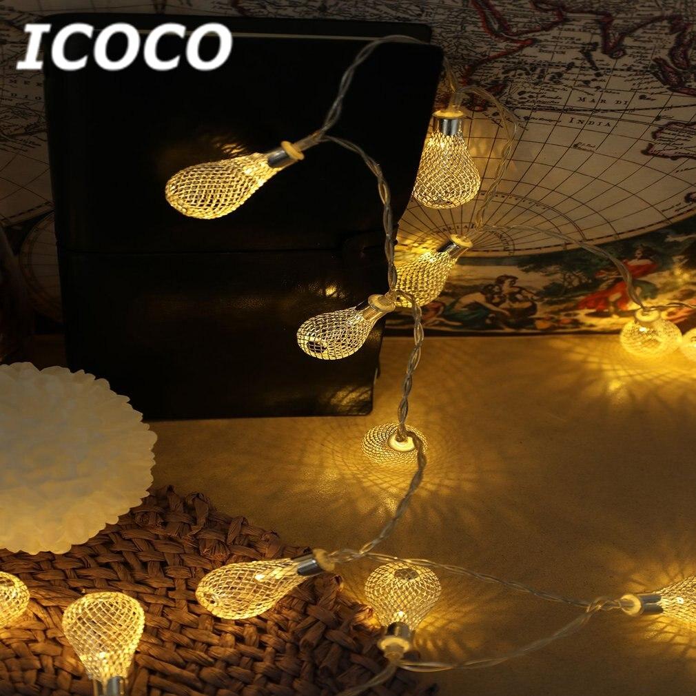 Dashing Icoco 1.5m/3m Net Hollow Water Droplet Outdoor Night Light Drop Wedding Xmas Party Decor Outdoor Fairy String Light Lamp Sale Lights & Lighting