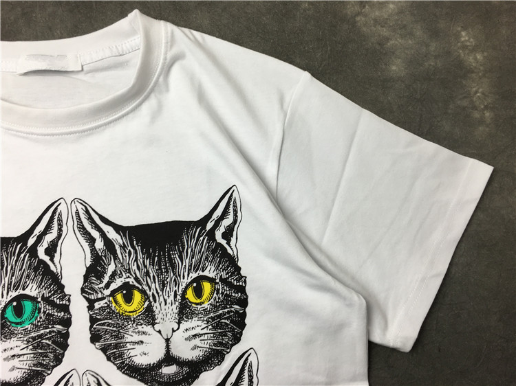 Urumbassa women men causal T shirt 2018 summer Cute cat print Tops Tees Fashion women 39 s Tee shirt U480 in T Shirts from Women 39 s Clothing