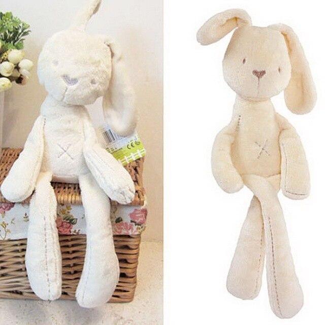 Nova Moda Suave Bichos de pelúcia Crianças Animais Dormir Coelho Bonito Dos Desenhos Animados Plush Toy Stuffed Animal Dolls Crianças Presente de Aniversário
