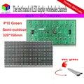 Полу-открытый P10 PH10 зеленой из светодиодов модуля табло для внутреннего войти 16 * 32 матрица