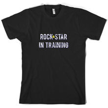 Rock Star In TrainingER - Mens T-Shirt Musician and Roll Free shipping Name Print T Shirt Short Sleeve Hot Tops