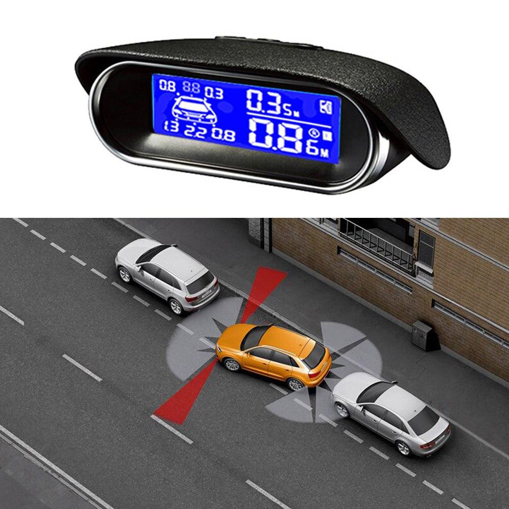 Capteurs de stationnement Auto voiture système de Radar de recul aide au stationnement de voiture Radar de recul écran LCD style de voiture