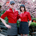 (5 получаете 10% от, 10 получить фартук) Мужчина/женщина половины рукав кафе ресторан отеля официант рубашка равномерное рабочая одежда рабочая одежда