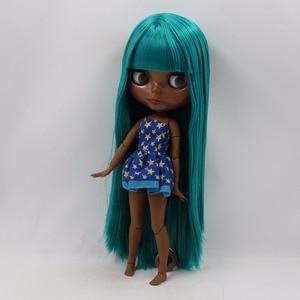 Image 5 - Icy Fabriek Blyth Pop Super Black Skin Tone Darkest Huid Groene Steil Haar Joint Body Bjd 1/6 30Cm Speelgoed