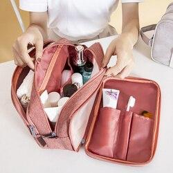 Multi funcional maquiagem organizadores de armazenamento sacos mulher cosméticos com zíper toalha de higiene pessoal bolsa caixa de viagem casa organização do banheiro