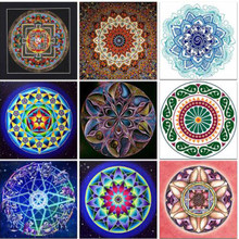 5D Diy Diamond Painting Mandala Cross Stitch Full Square Rhinestone Picture Diamond Embroidery Patchwork Mosaic Needlework SH(China)