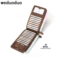 Weduoduo Genuine Leather Vintage Business ID Card High Quality Credit Card Holder Case Slot Men S