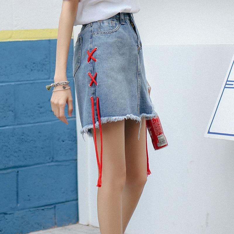 Online Get Cheap Red Denim Mini Skirt -Aliexpress.com | Alibaba Group