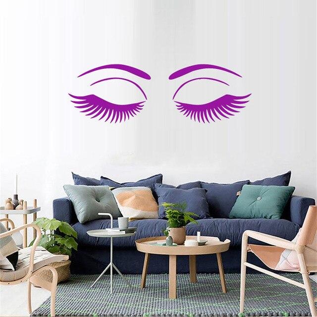 Eye Eyelashes Wall Stickers Beautiful S Eyes Beauty Salon Room Decoration Vinyl Art