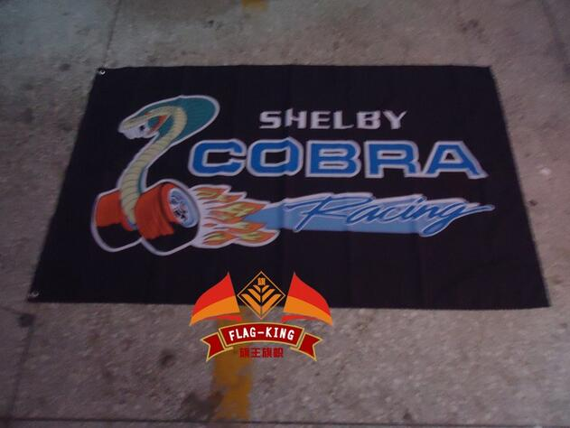 Shelby Cobra Flag ,3x 5ft Polyester,