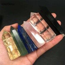 Varinhas de pedra natural, pedra natural para cura, rosa, cristal, varinha, ponto 2 ''para presentes