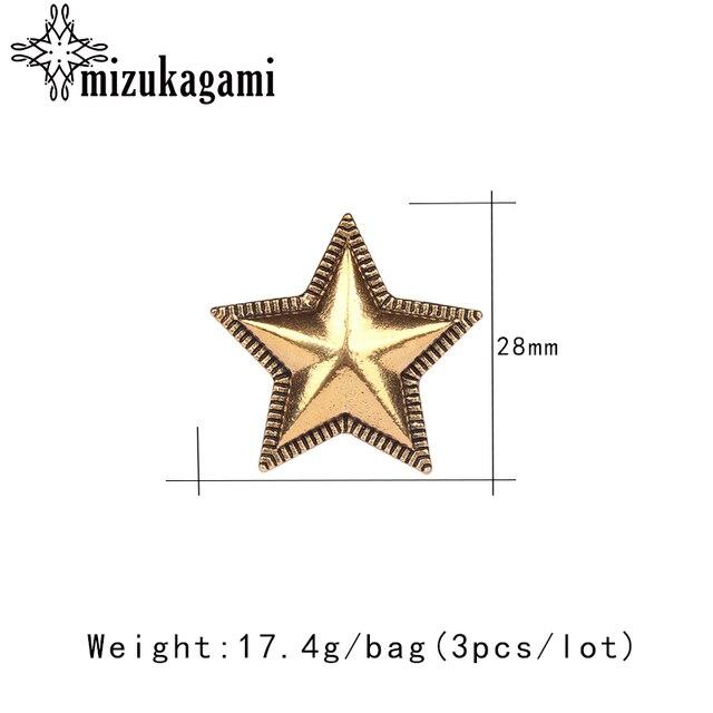 3 шт/лот 28 мм Ретро Сплав Цинка Золотой/бронзовые Кончо звезды