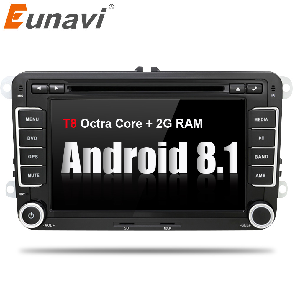 Eunavi 7'' 2 Din Android 8.1 car dvd player octa core gps radio for VW GOLF 6 Polo Bora JETTA B6 PASSAT Tiguan SKODA OCTAVIA feeldo new 8 ultra slim android 6 0 quad core car media player with gps navi radio for vw golf polo jetta skoda octavia gift