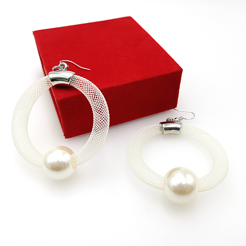 Купить с кэшбэком YD&YDBZ New Fashion Round Pearl Earrings Hollow Design Pairing With Pearls Trendy Accessories Gift Girl Jewellery Gothic Style