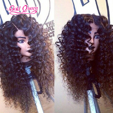 New brazilian hair deep wave full lace front wigs180% density lace wigs middle partting long deep wave human hair virgin hair