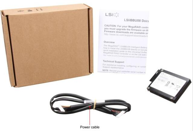 US $63 9  RaidStorage Avago LSI MegaRAID SAS LSI00264 LSIiBBU08 Date of  manufacture 2013 IBBU08 BBU08 Battery Backup Unit -in Add On Cards from