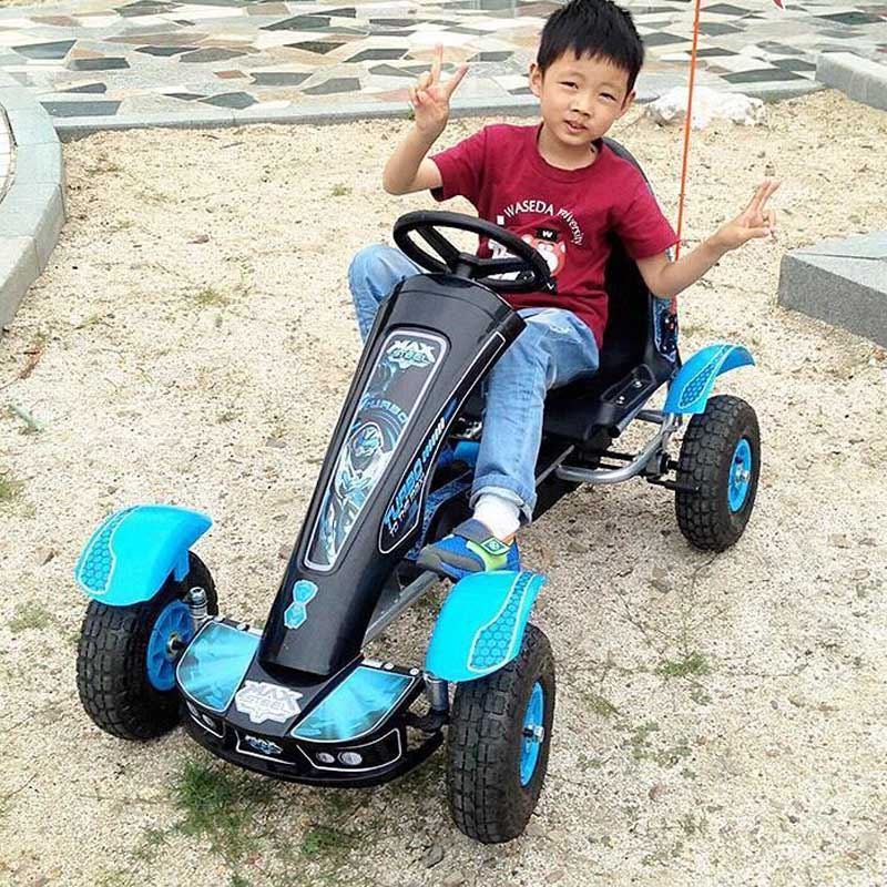 Kids Outdoor Fun & Sports Ride On Toys 4 Wheel Pedal Karts Car Pneumatic Tire Children's Bicycles Child Beach Car