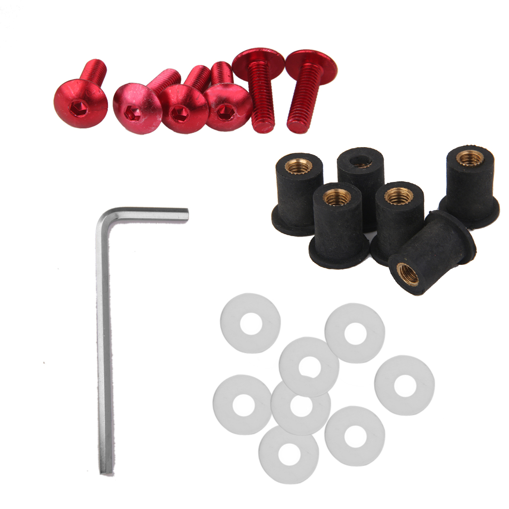 Baosity Rear Aluminum Screw Seat Bolt Nut Kit Harley Touring Electra Glide Road King