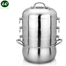 Cook Steamer Pot Cooking Tool 15 Litre Stainless Steel Steaming pot 28cm 4layers Energy-save Kitchen Casserole Cookware