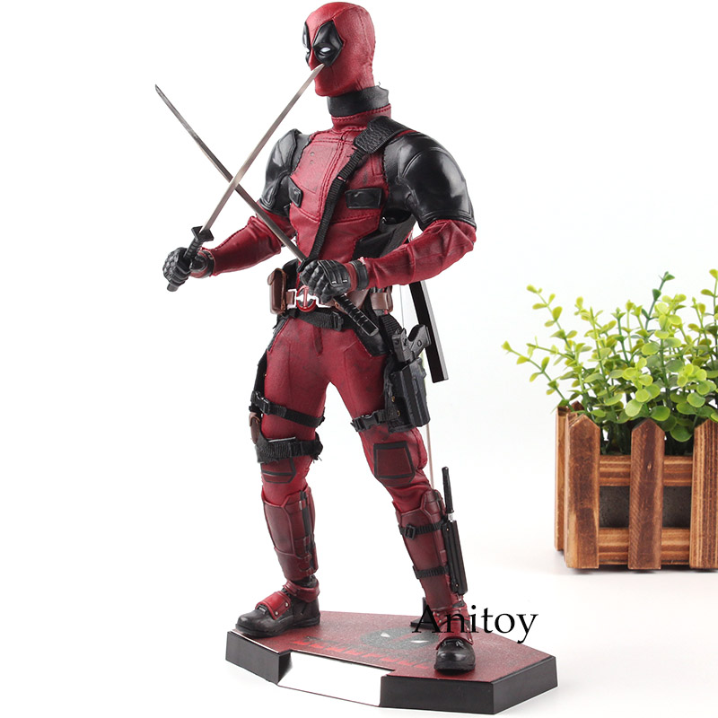 Hot Toys MMS 347 Action Figure Deadpool 1/6 Scale with Real Clothes PVC Deadpool Marvel Collection Model Toys for Boys action figure marvel deadpool figure pvc anime deadpool comics figurines collection model toys for boy gifts 24cm